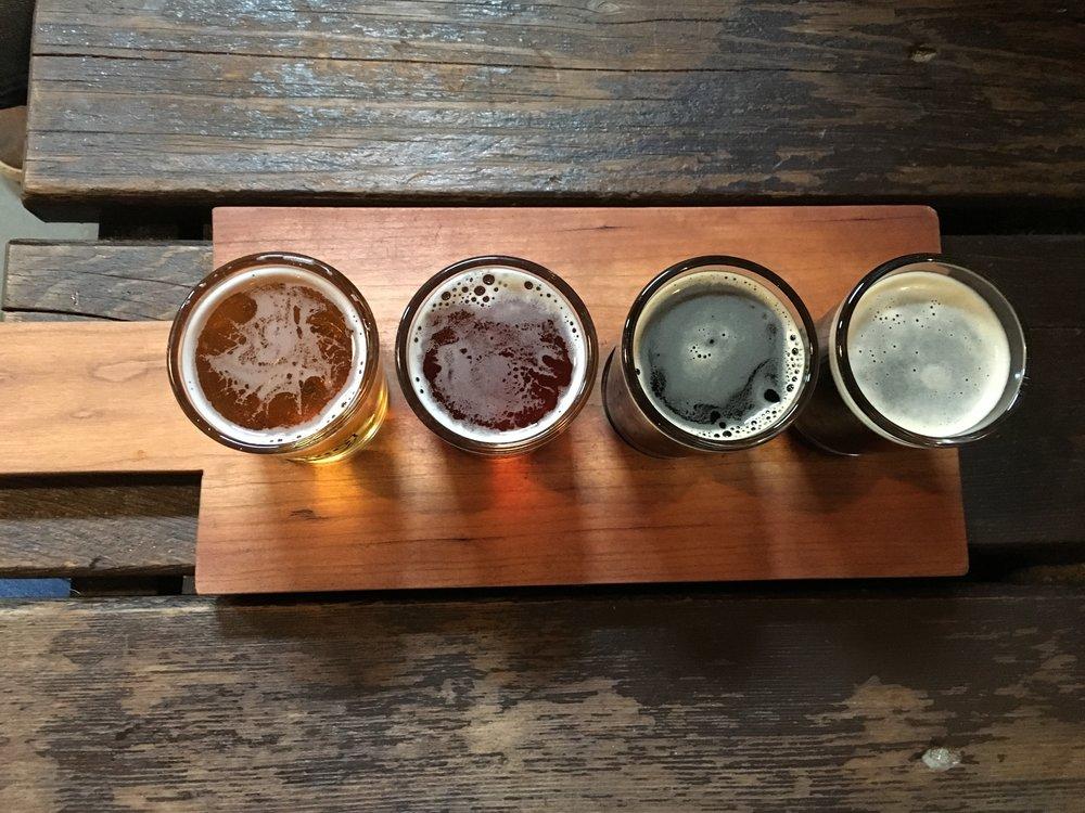 Dave's beer tasting flight