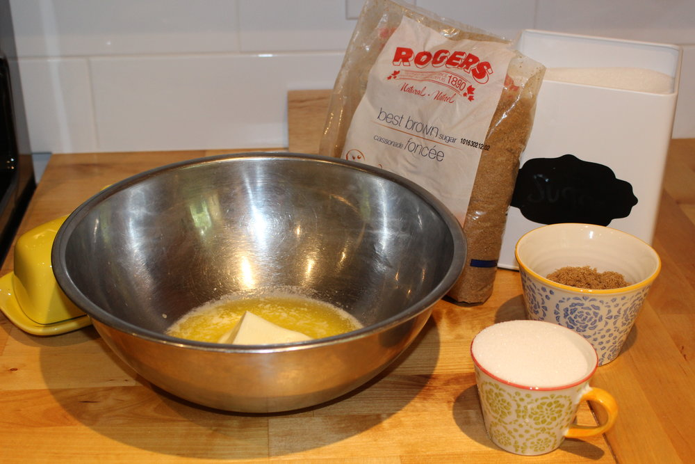 Ready to mix the butter and sugars