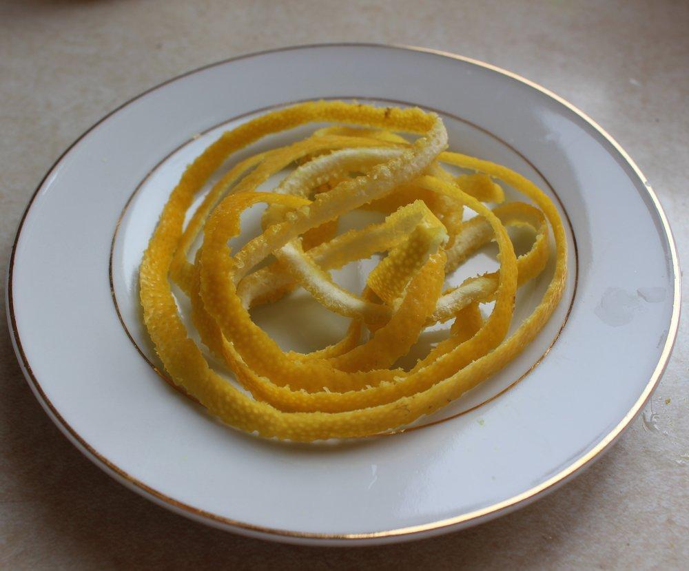Lemon rind for decoration