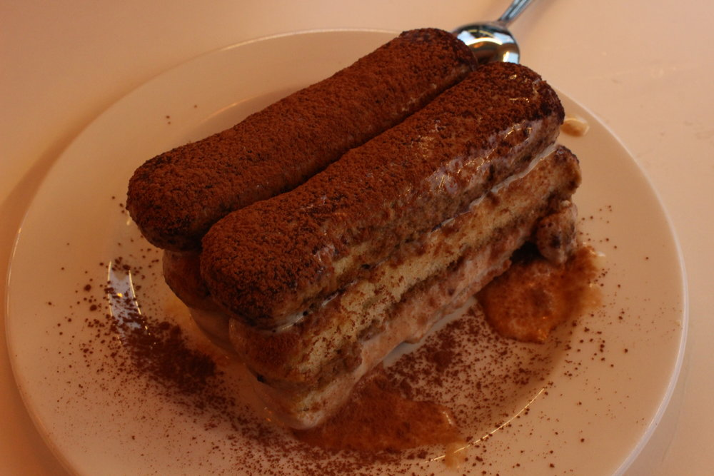 Tiramisu,  the owner's specialty