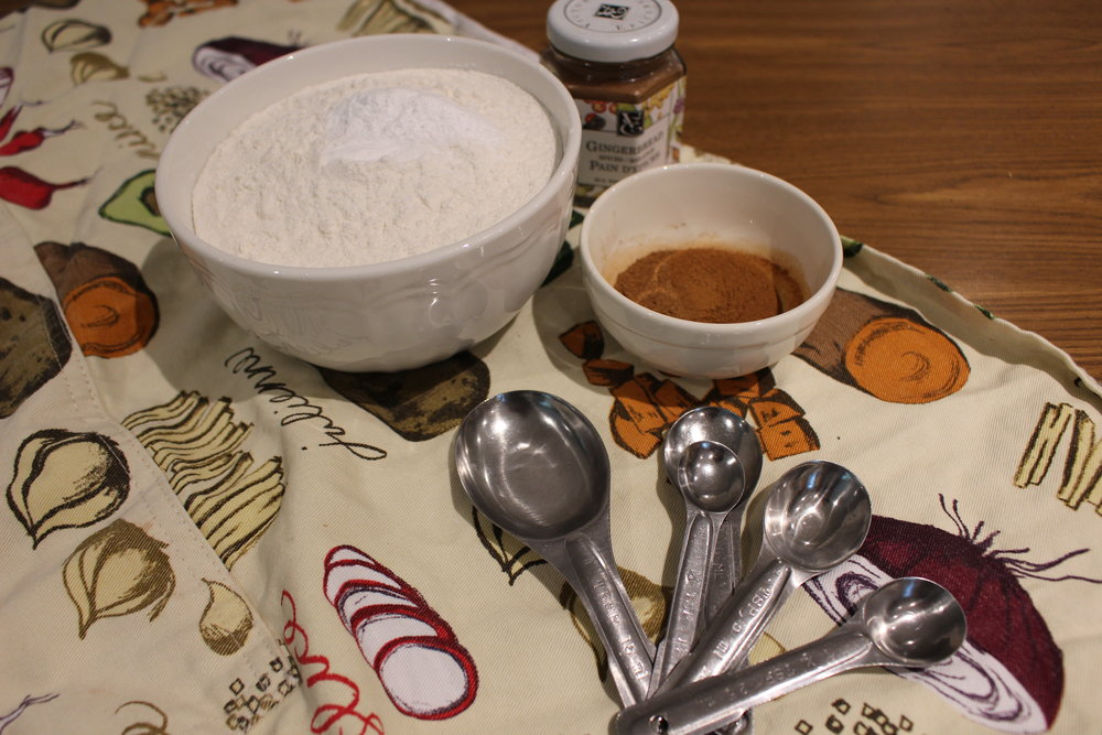 The dry ingredients at the ready