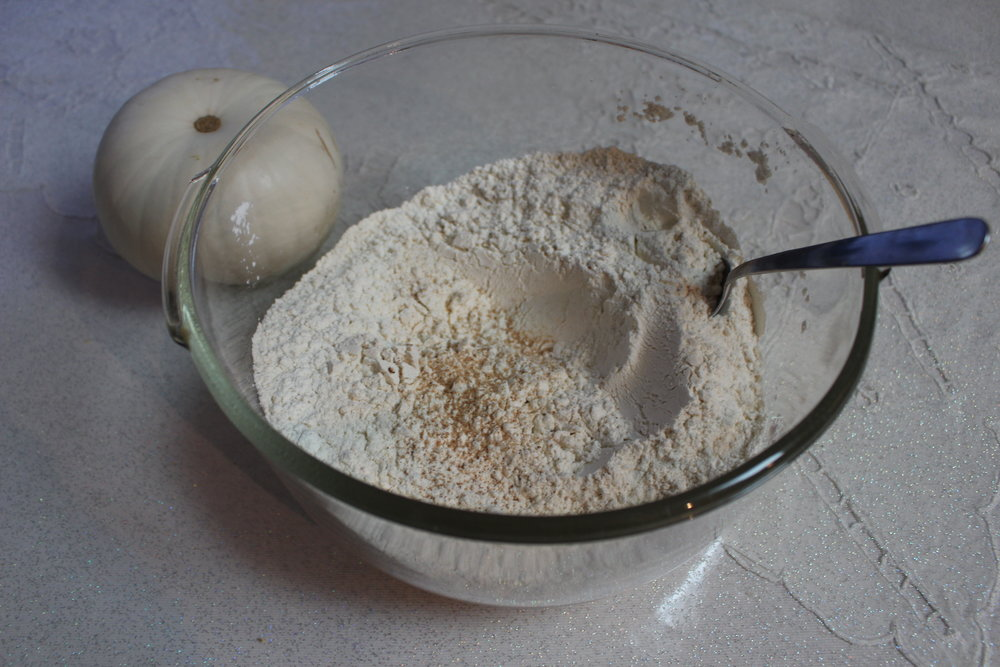 Dry ingredients all mixed together