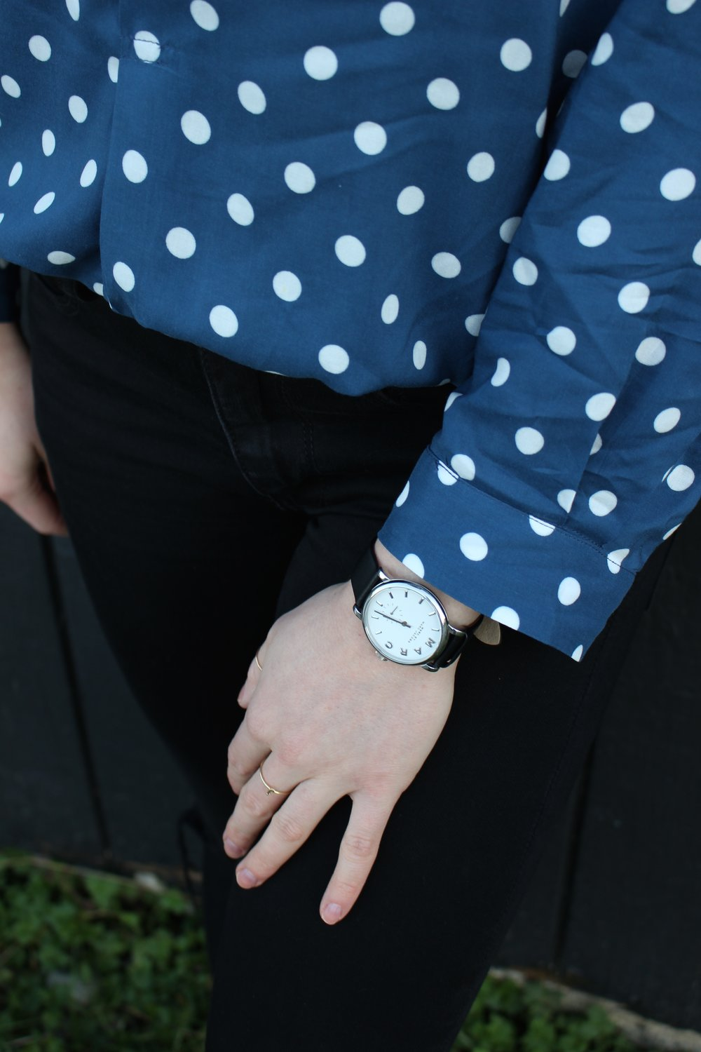 Details:    Marc Jacobs    Watch,    Catbird    Initial Ring,    Etsy    Thumb Ring