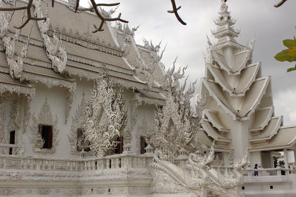 The outside of the White Temple