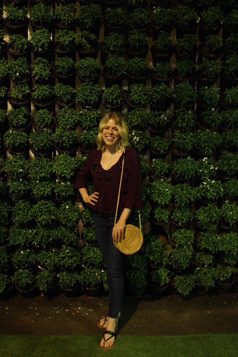 So many great & green lush walls to take photos in front of