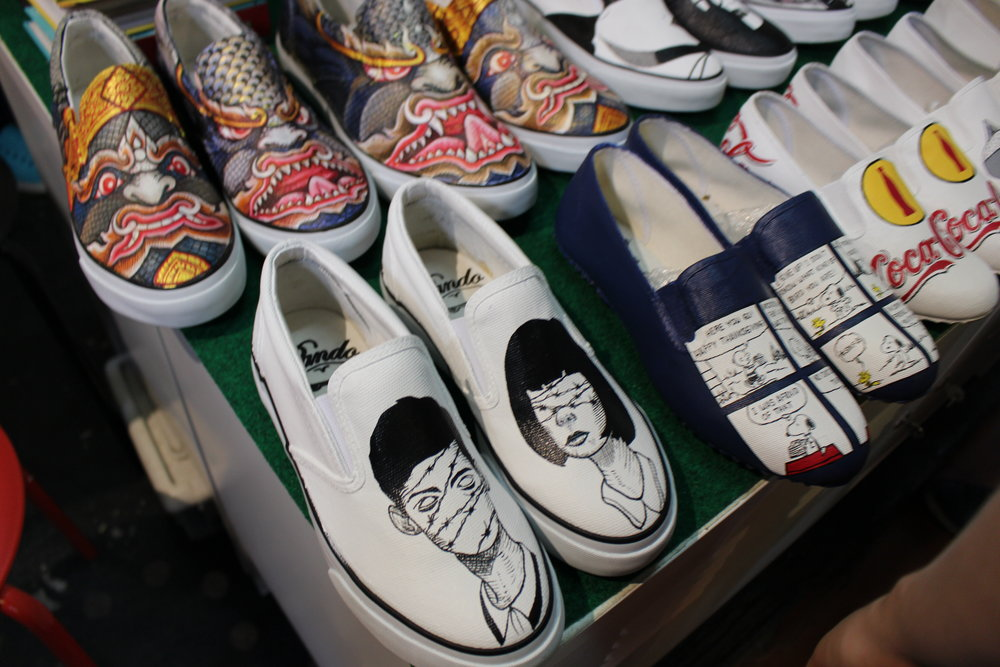 Beautiful one of a kind painted shoes