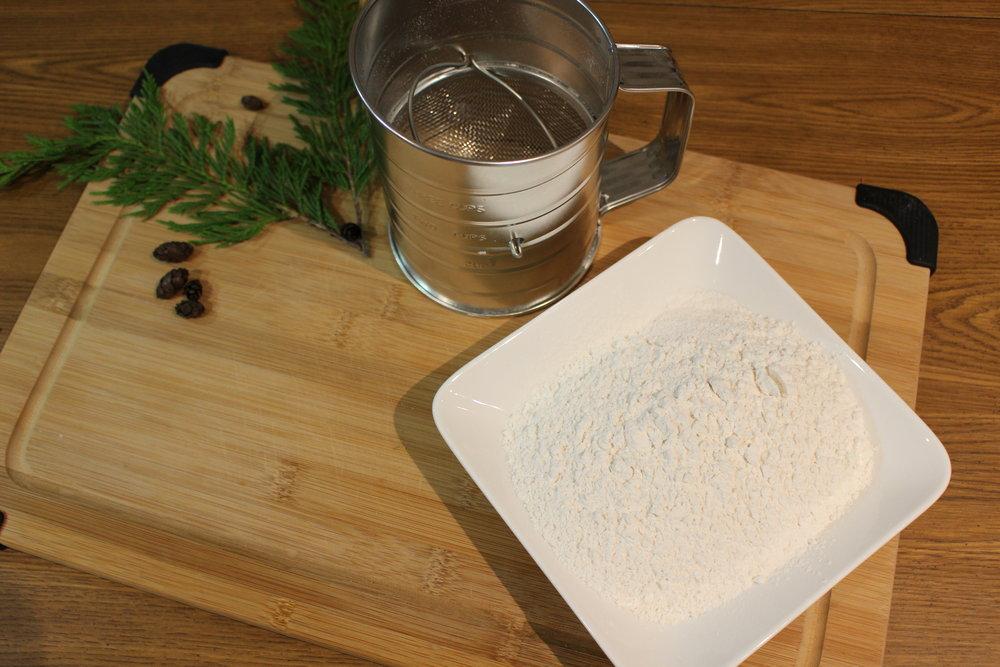 Sifted flour