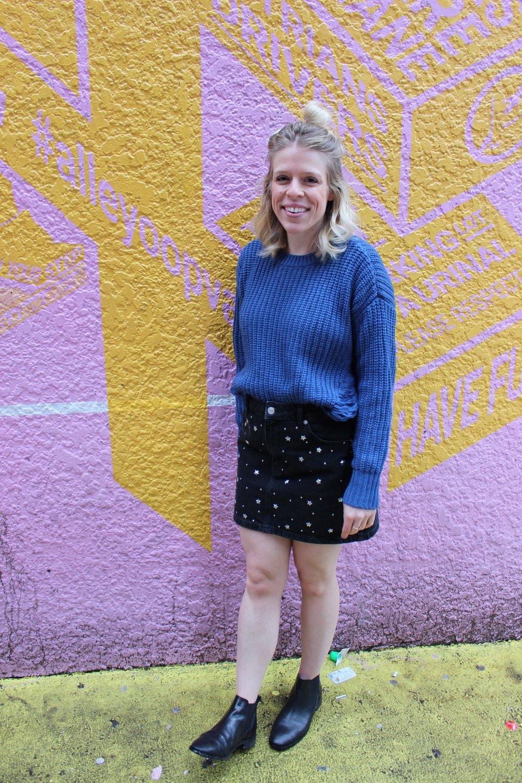 Mark sweater, Topshop black denim mini, Topshop leather Chelsea boots