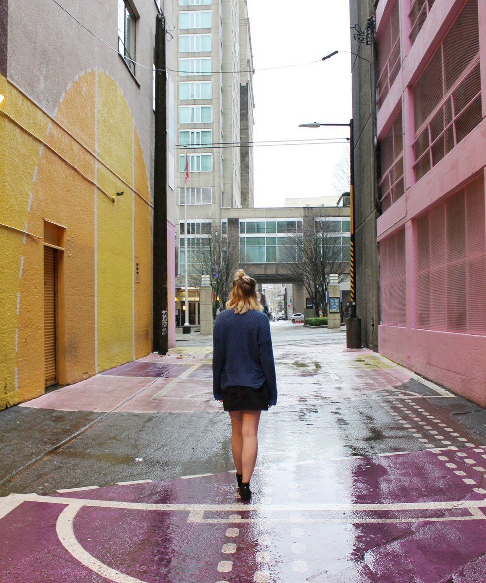 The Pink Alley in Vancouver