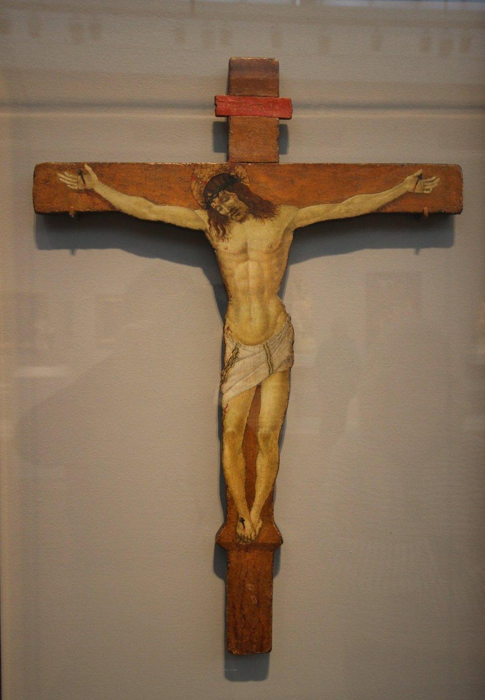 Sandro Botticelli, Christ on the Cross, ca. 1500, Tempera on wood