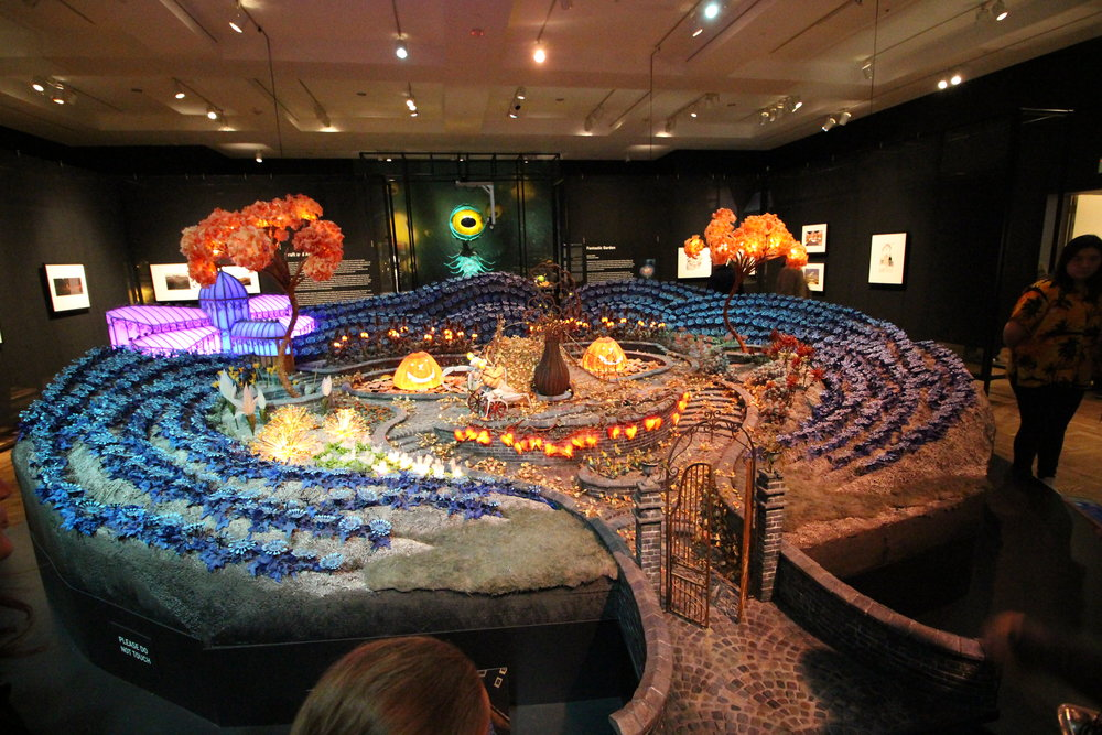 Part of the animation exhibit