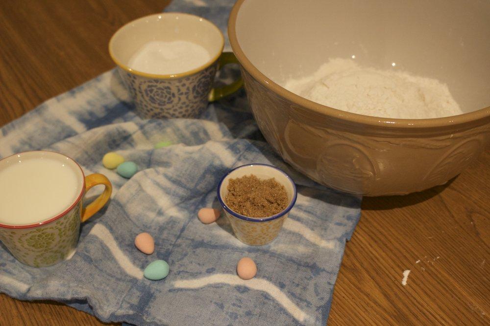 Making the cupcake