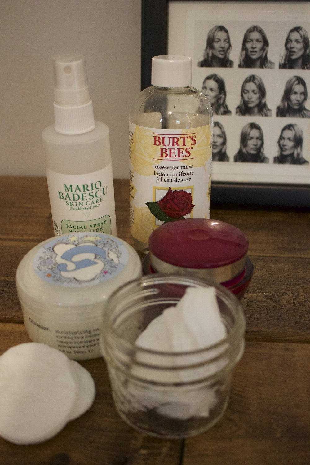 My night time essentials after I remove my makeup are a toner, facial mist and night cream (a weekly face mask too!)