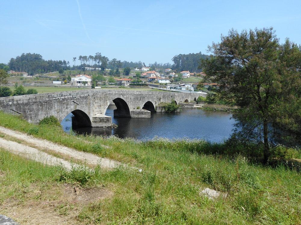 An old medieval bridge we crossed over