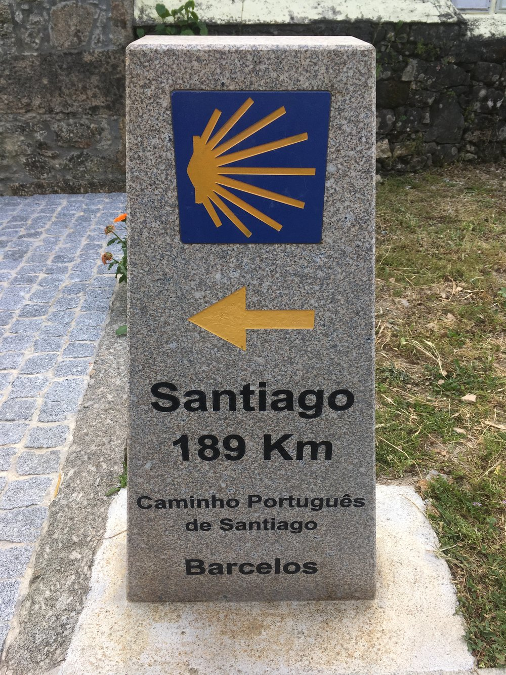 We got excited when it was less than 200km to Santiago de Compostela