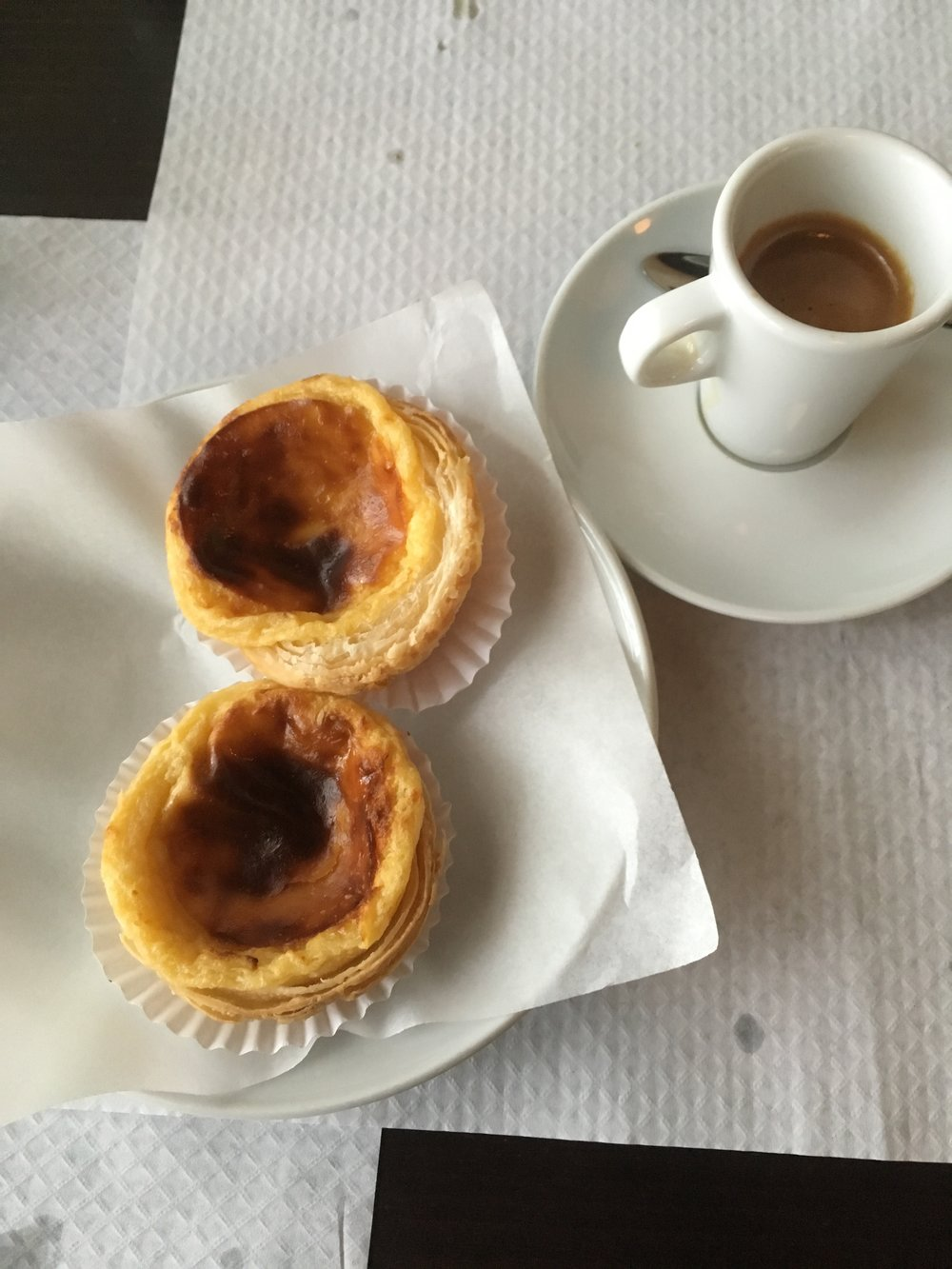 The Pastal de Nata, they were so delicious and I miss them every day!