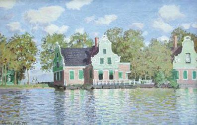 Houses of the Banks of the Zaan, Zaandam  , 1871, Claude Monet