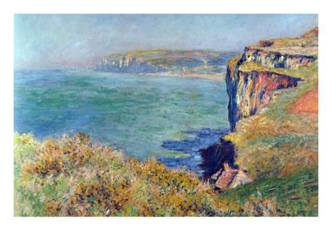 The Path through the Cliff at Varengeville  , 1882, Claude Monet