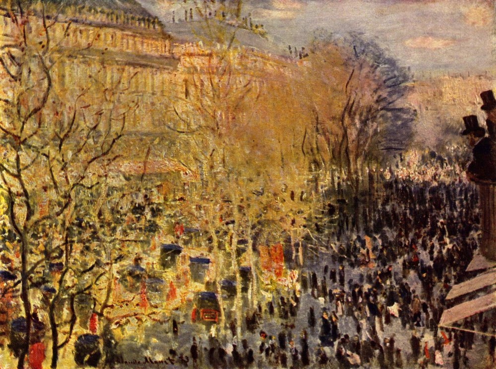 The Boulevard des Capucines, Paris  , 1873, Claude Monet