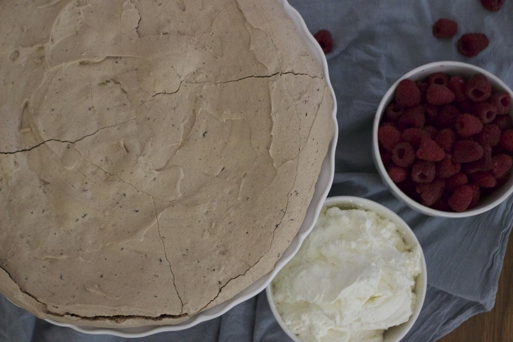 Fresh local raspberries and whip cream are a match made in heaven