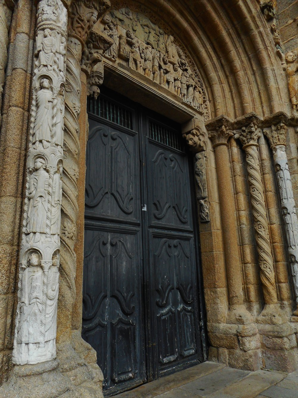 One of the entrances to the cathedral with its beautiful stonework