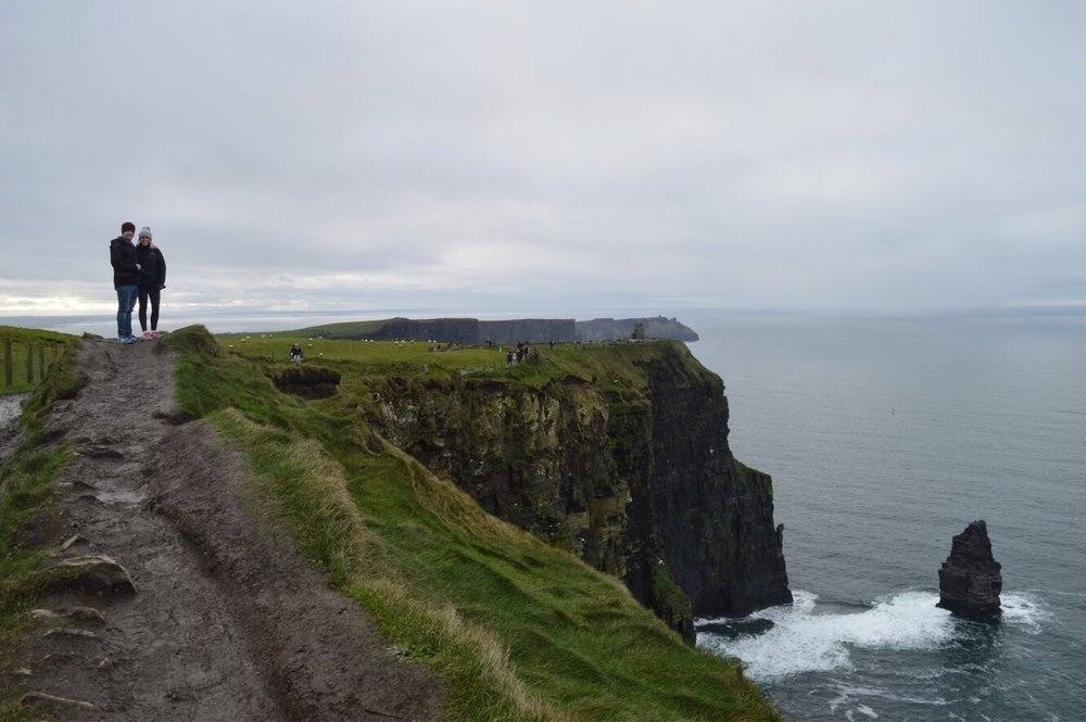 Dave & I at the Cliffs of Moher