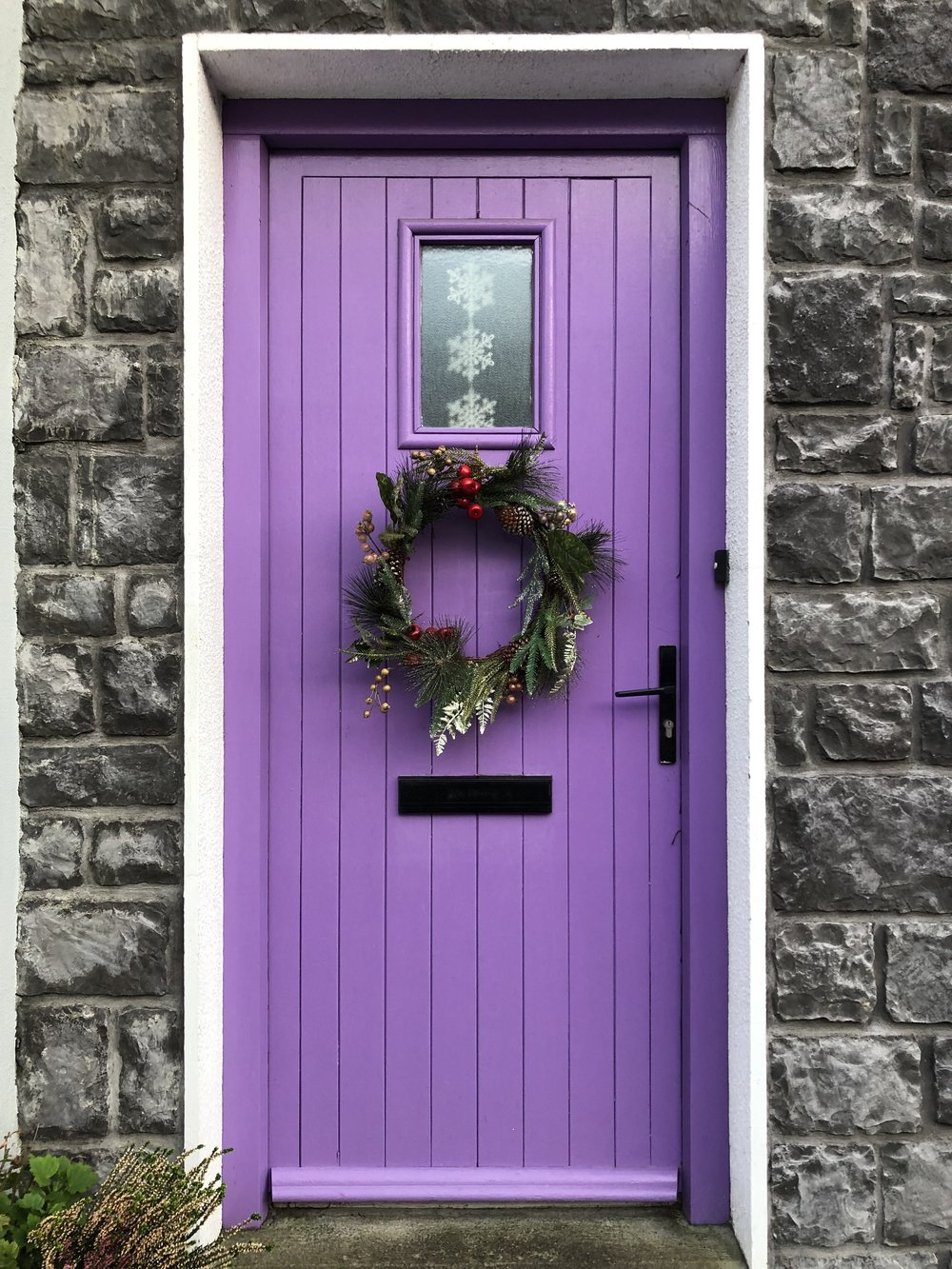 Beautifully painted door, there are so many in Ireland, I love the pop of colour!