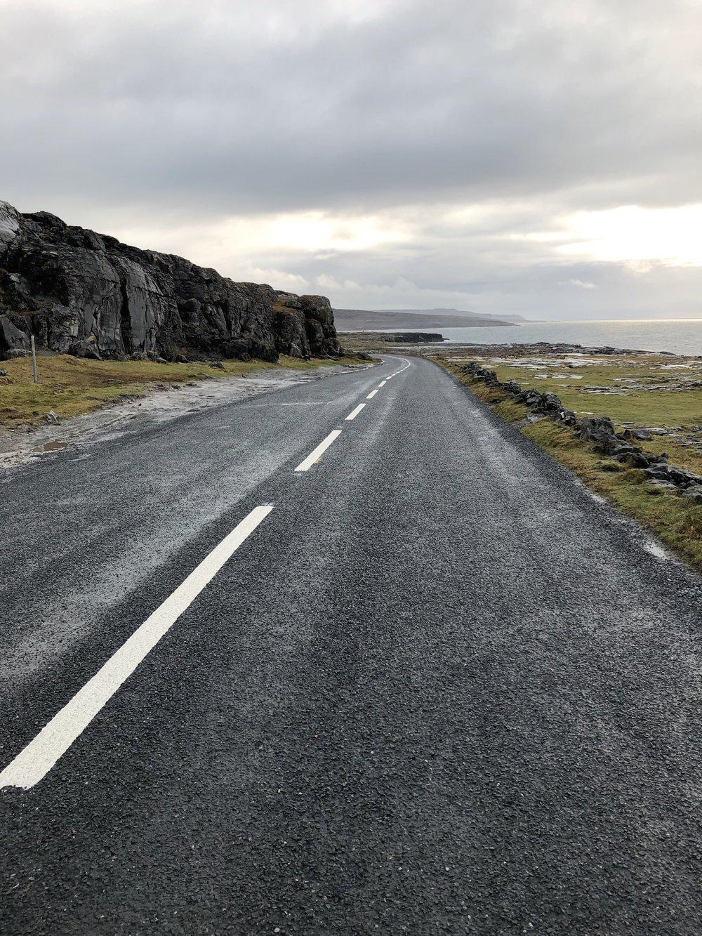 The road along the coast was magic