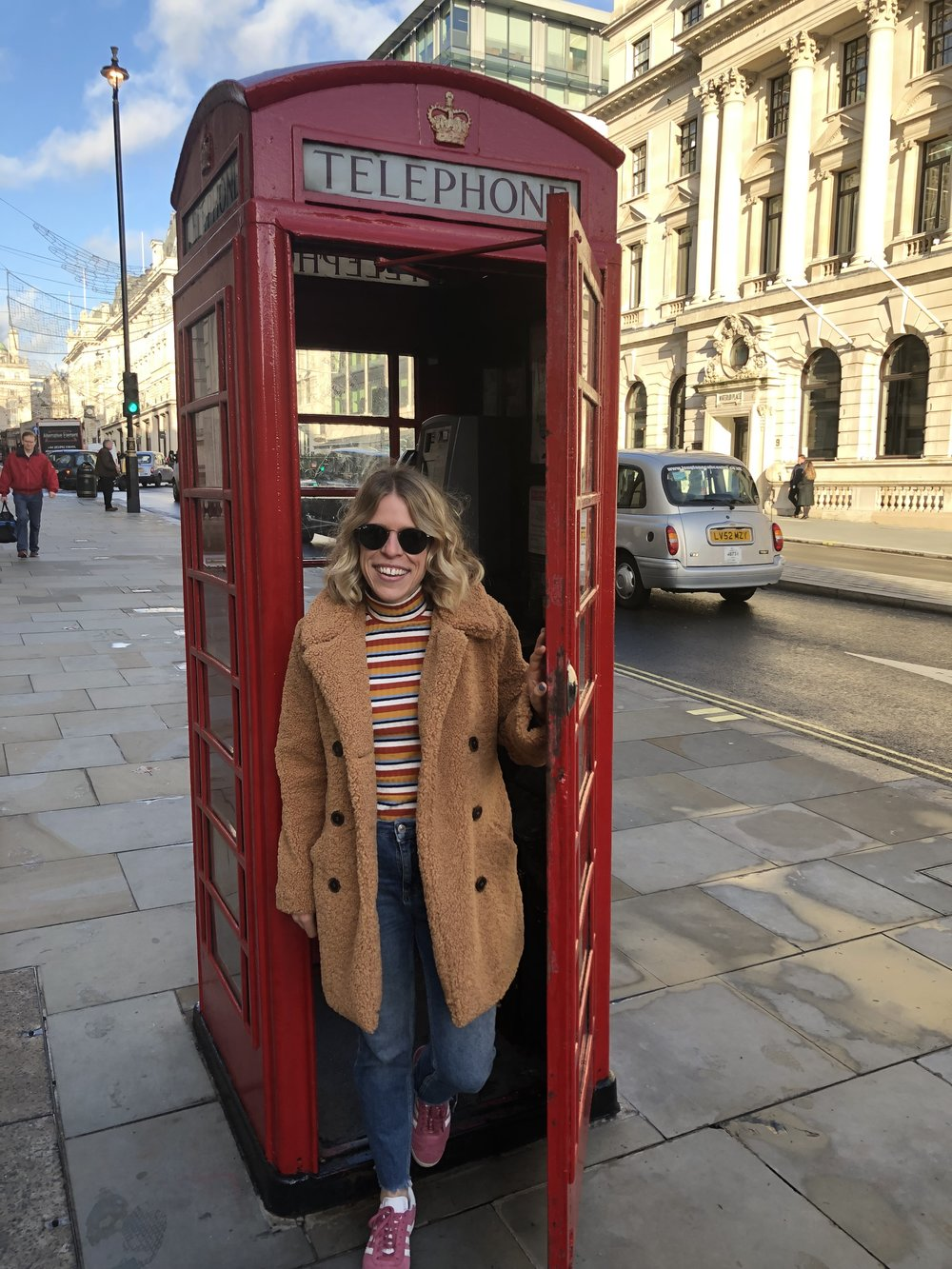 My traditional tourist shot in a telephone box