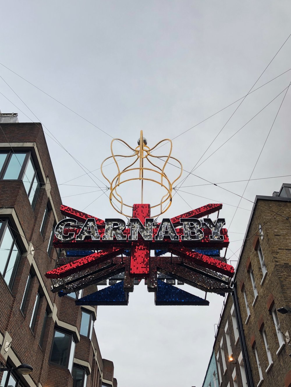 Carnaby Street had such fun Christmas decorations