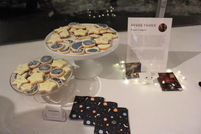 My display at the art exhibition, the napkins matched perfectly!