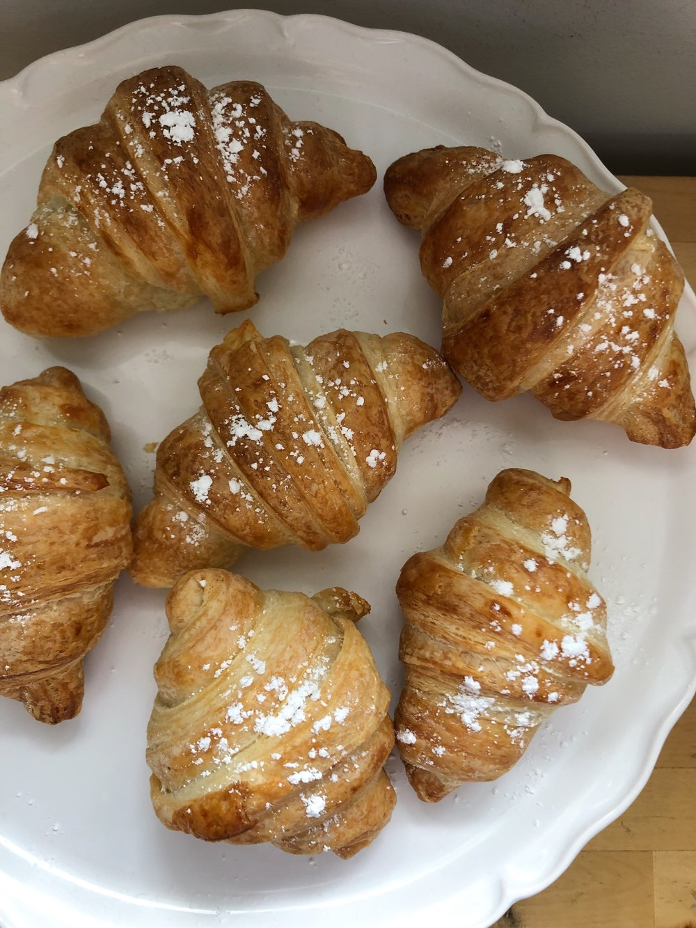 The chocolate croissants we made were to die for!