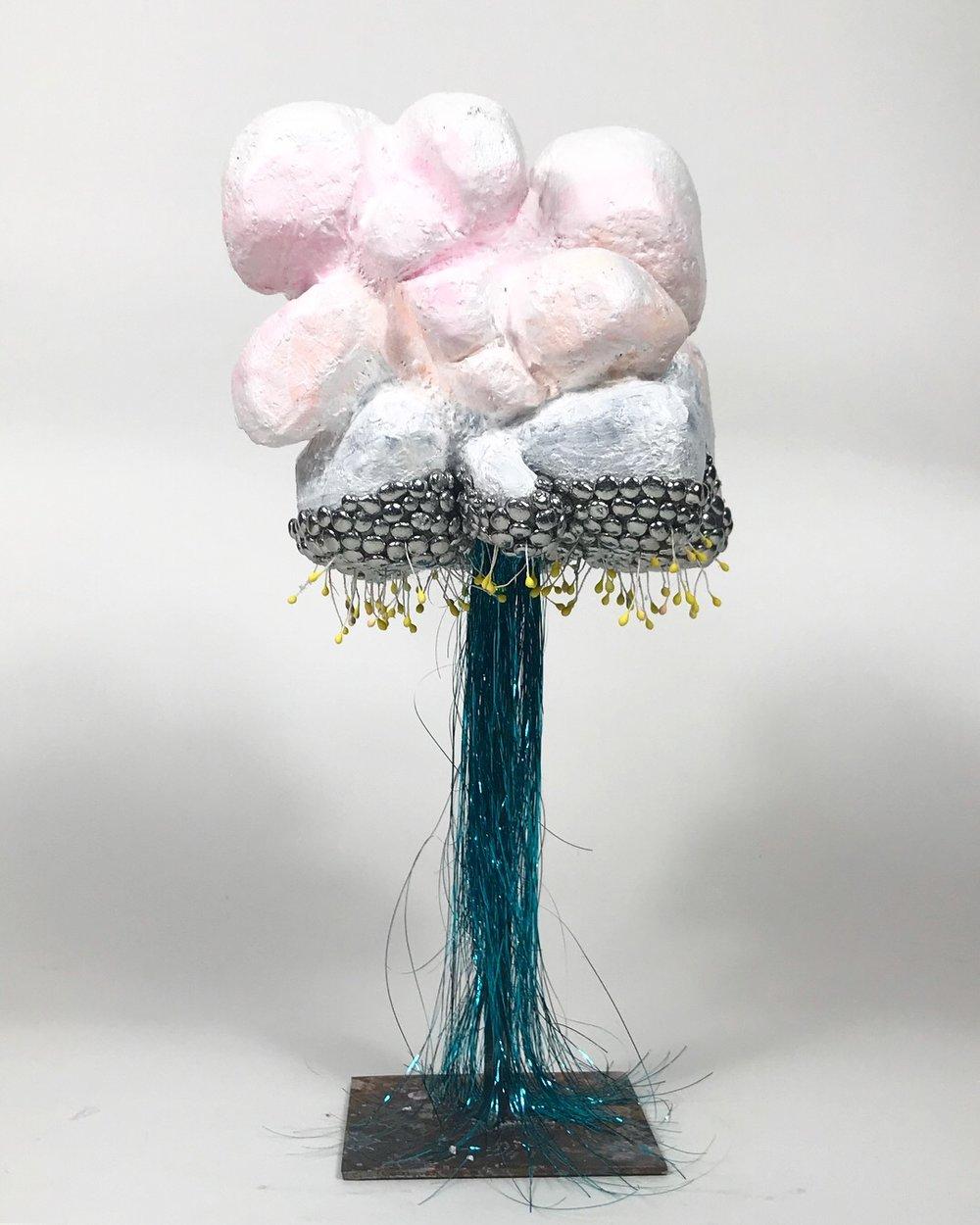 Micro Microburst , approx 12x6x6, mixedmedia sculpture, 2018