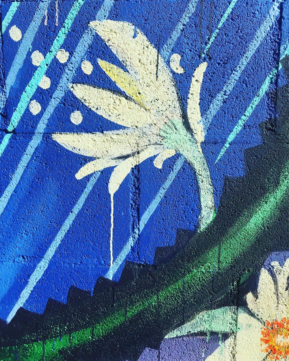 Detail from Moon Garden mural