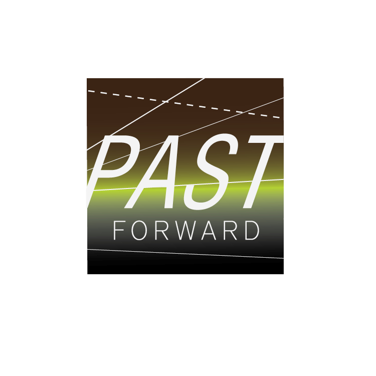Logo badge designed for a the Past Forward Podcast