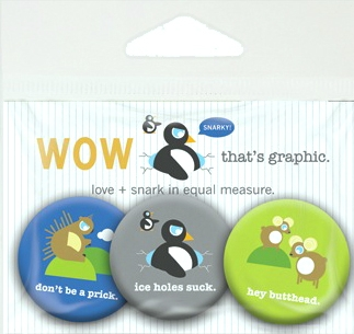Let your Snark be heard! Snarky Pin Pack.