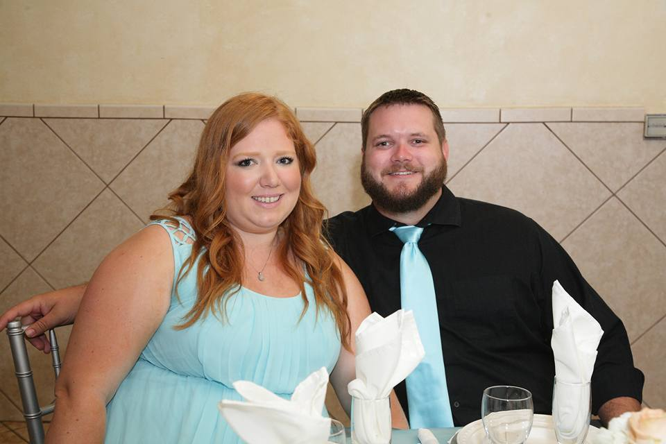 Lynn,  Step-Sister of the Groom  and her fiance Brandon