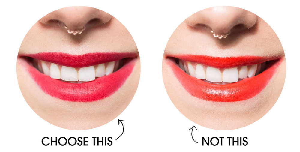 whiter teeth with blue based red shades
