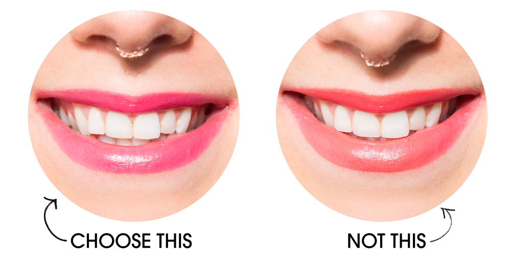 wearing Lipsticks with cool undertone results in teeth appearing whiter