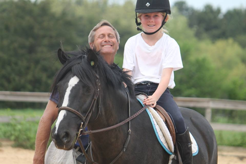 Head Instructor, Beanie Cone, with HES rider, Caroline