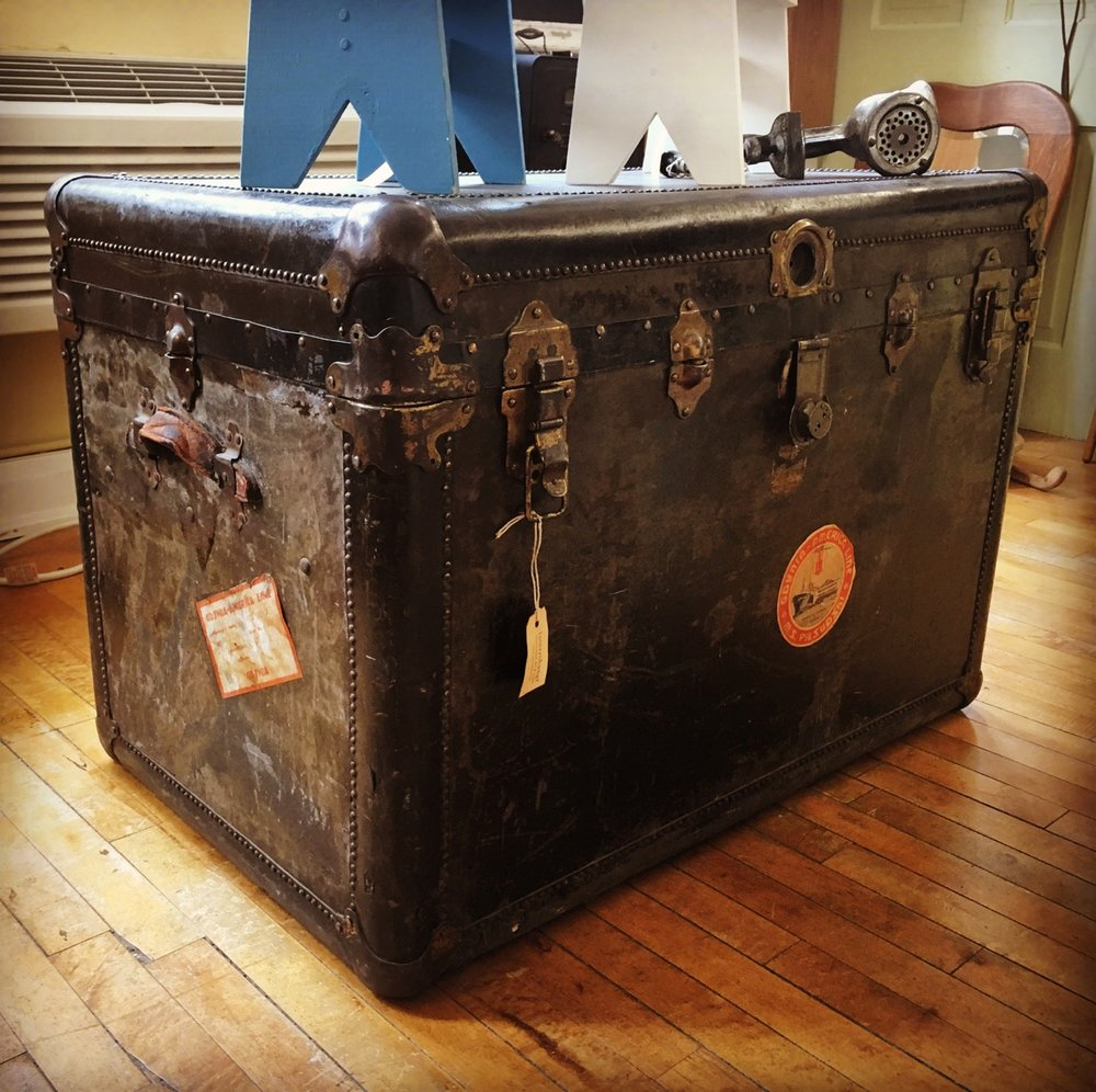 Antique Steamer Trunk from Denmark!