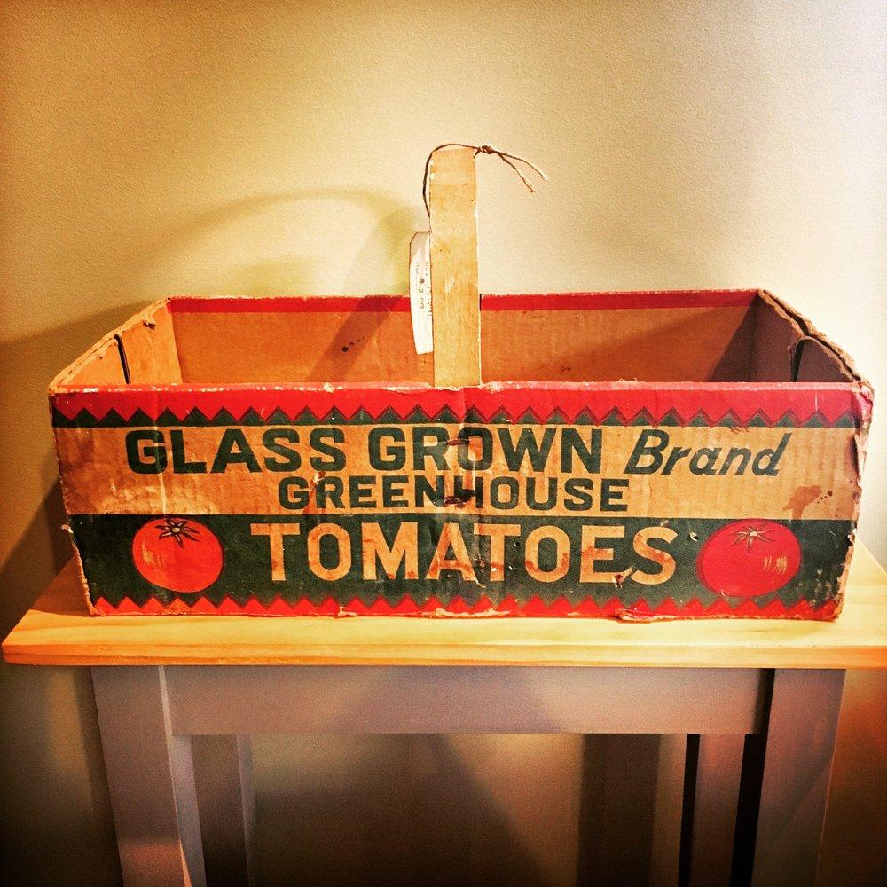 vintage tomato carton