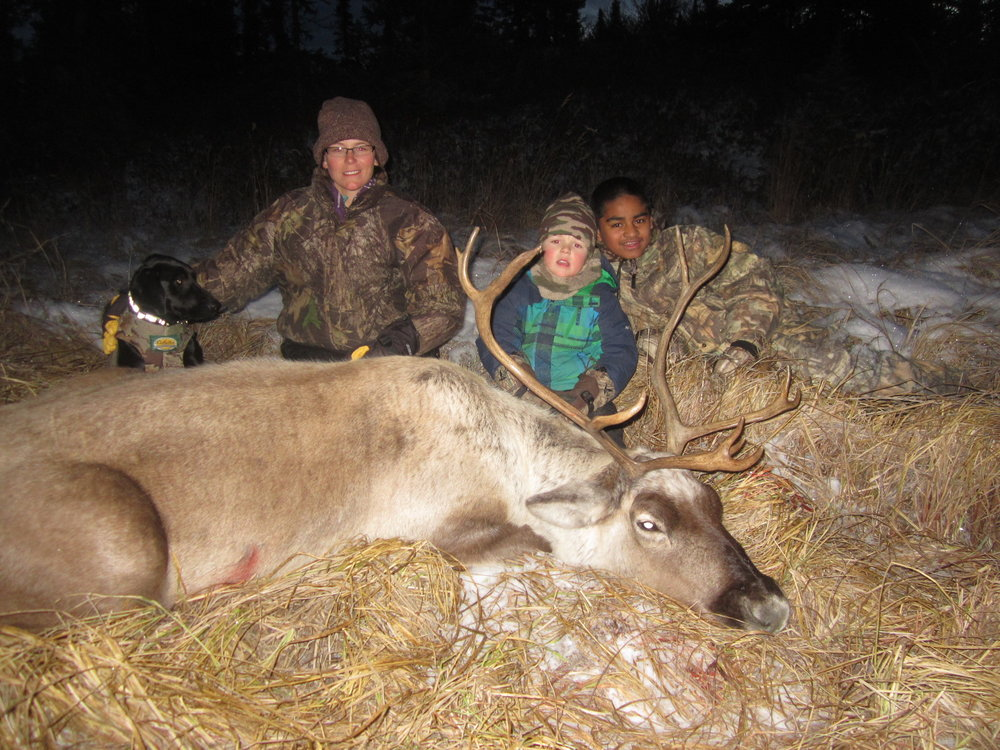 A chilly October caribou hunt with the boys, rewarding, fun and filled the freezer.
