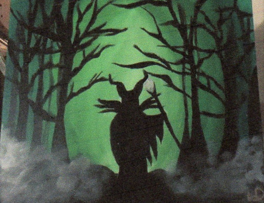 "For this event we are painting ""The Spooky Forest"""