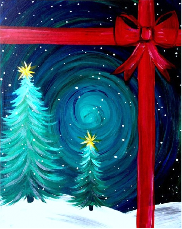 """For this event we are painting """"Christmas in the Snow"""""""