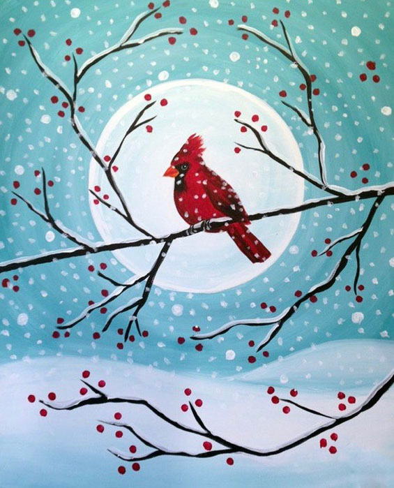 """For this event we are painting """"Winter Cardinal"""""""