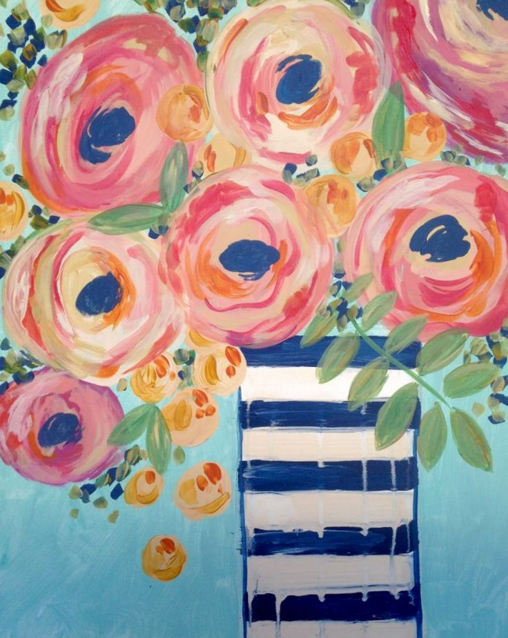 """For this event we are painting """"Vase of Roses"""""""