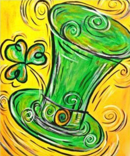 """For this event we are painting """"Luck of the Irishs"""""""
