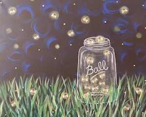 """For this event we are painting """"Fireflies  """""""