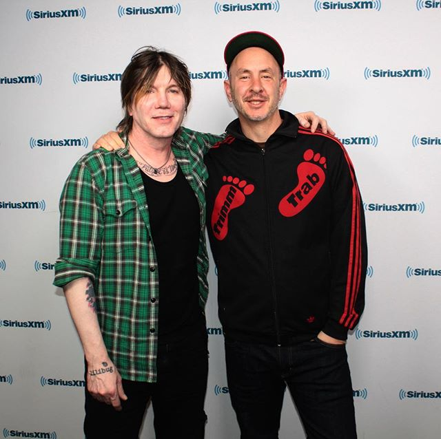 Stellar morning at SiriusXM getting interviewed by the great Johnny Rzeznik (Goo Goo Dolls) on his show 'Chorus & Verse'! It's a pretty sweet chat about songwriting, joy, failure etc. Check it out next week on SiriusXM VOLUME Channel 106 👊 #siriusxm  #songwriter